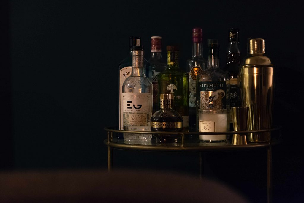 Home bar, bar cart