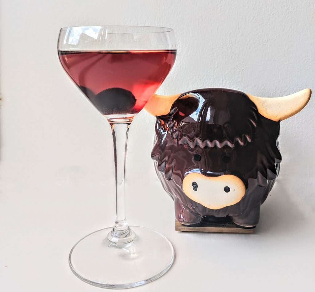 death or glory cocktail highland cow rob roy whisky