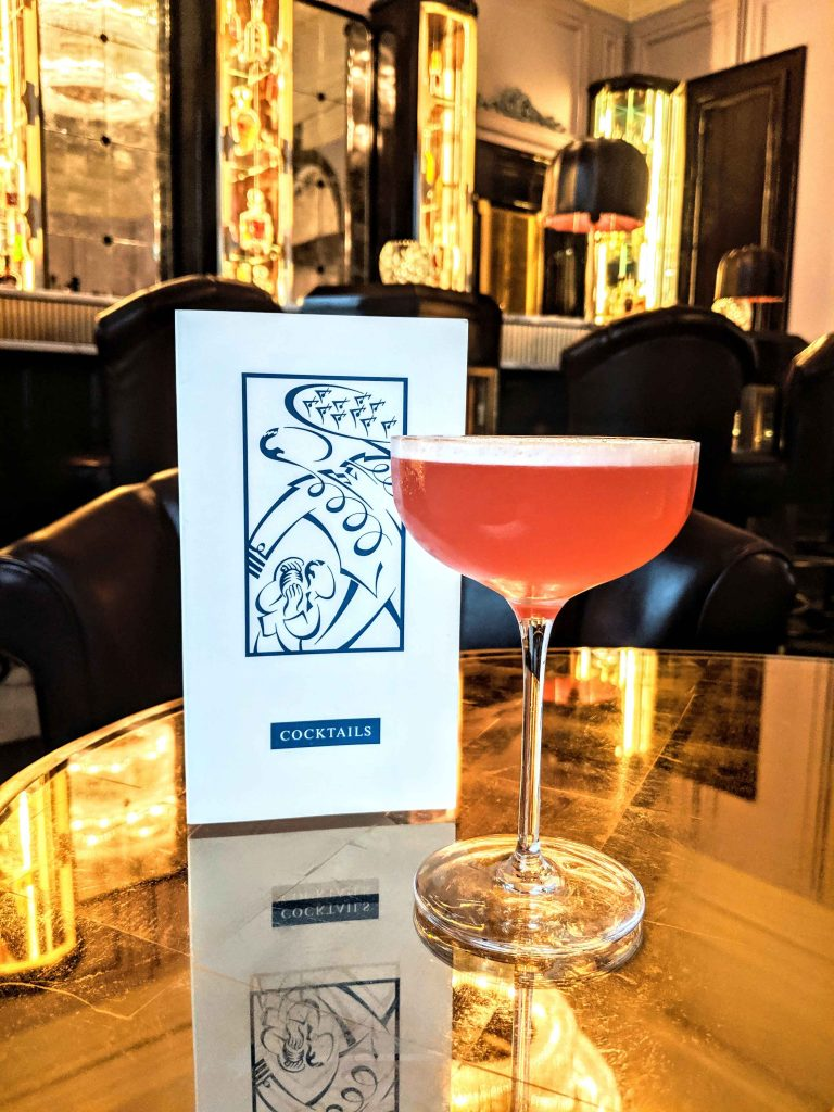 symphony in pink fruity cocktail